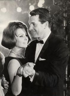Sophia Loren and Rock Hudson  Bambi Party at Karlsruhe 1962