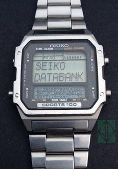 VINTAGE SEIKO D409-5010 RARE COLLECTABLE DATABANK SPORTS 100  #Seiko