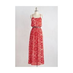 Festival Long Sleeveless A-line Of Corsica You Can! Dress ($70) ❤ liked on Polyvore featuring dresses, apparel, fashion dress, red, embroidered dress, sleeveless maxi dress, long a line dress, red maxi dress and paisley dress