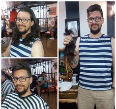 A gente pode se transformar e ainda ter a chance de transformar a vida de alguém❤️ Nosso cliente cortou e fará a doação do seu cabelo Trabalho feito pela @theresa22_loreto da Barbearia Circus Augusta ✂️ #circushair #barbeariacircus #circusaugusta #barbershop #barber #barbearia #doacao