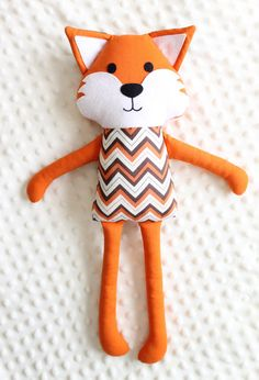 Love this Handmade plush fox, Stuffed fox toy, Fabric doll from https://www.etsy.com/shop/SarahPilar