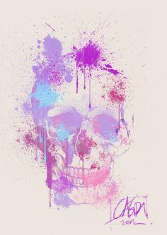 SKULLS - spray paint skull by *cagris on deviantART