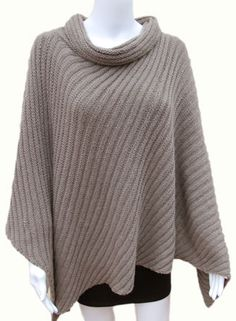 Knitted Poncho Patterns | Morehouse Farm Merino Wool Ponchos: Parlando Cape KnitKit