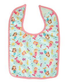 Another great find on #zulily! Pink & Teal Wave Babies Bib #zulilyfinds