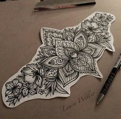 GORGEOUS image. I really like this as a concept. For mine, I would add color throughout and maybe even expand on either side. Found via Bing: underbust tattoo | 1000 ideias sobre Tatuagens Na Parte De Baixo Das Costas no Pinterest ...