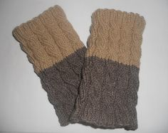 Boot cuffs, Hand knitted Boot cuffs, leg warmers, 2 in 1, cable knit boot cuffs