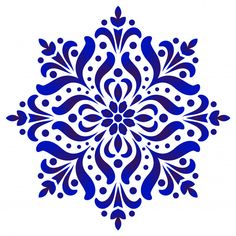 pottery painting ideas floral round pattern, Circular decorative ceramic ornament, blue and white Mandala, porcelain background design, pottery flower decor vector illustration # Mandala Art, Mandalas Drawing, Mandala Design, Mandala Floral, Pattern Floral, Pattern Art, Blue Pottery, Arte Popular, Ceramic Decor