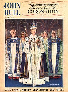 John Bull Magazine Cover 1953 Coronation. Copyright The Advertising Archives, Image Courtesy of The Advertising Archives: http://www.advertisingarchives.co.uk