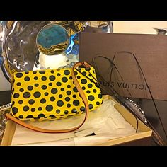 LV Yayoi Kusama Lim Ed infinity dots pochette Authentic LIKE NEW Yayoi Kusama limited edition vernis infinity dots pochette. No visible signs of wear or use, comes in box w paper & ribbon!   You will receive concierge authentication confirmation & you can also screen shot my photos to Meme's treasures, carols diva, or liyahsluxuries@gmail to get authentication confirmed :-)  Limited edition bags only increase in value as time goes and they get harder to find. Retail $1305 plus tax.   I have…