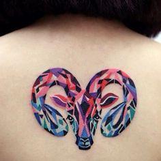 #tattoo#aries#ariestattoo#070tattoo#colourwork