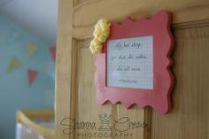 Love this entrance into a nursery!