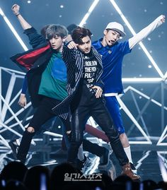 EXO suho perfection rite there, ft. xuimin and chanyeol