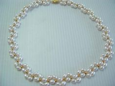 "XaXe.com - 17""handmade white rice pearl necklace"