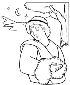 God's Angel Called Gideon coloring page from Judge Gideon