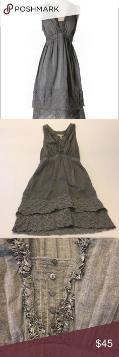 Burning Torch Organic Grey Dress Burning Torch Organic Grey Dress. Cute button accents & fun layers. Excellent condition! Burning Torch Dresses