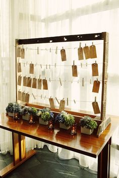 Guests write messages for the couple and put them on this.  Then it can be displayed in the house!