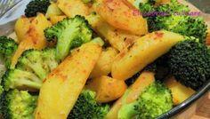 Cartofi cu broccoli la cuptor Vegetable Recipes, Curry, Dishes, Vegetables, Food, Kitchens, Curries, Tablewares, Essen