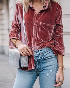 Check out our styling tips for wearing velvet all winter  from the office to the bar Link in bio// photo by @lisa.olssons