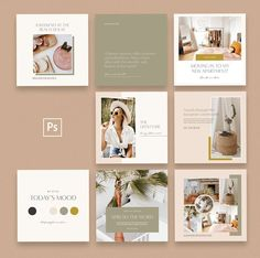 The Lifestyler   Instagram Pack by January Made Design #template #post #elegant Instagram Feed Layout, Instagram Grid, Instagram Design, Instagram Posts, Graphisches Design, Make Design, Layout Design, Social Media Design, Social Media Template
