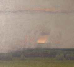 Russell Chatham . Afternoon Squall . oil on linen, 36x40
