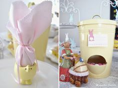 yelow dispenser available @ COSY Easter tea party by Lima Limão - festas com charme