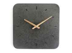 Wall Clock-black concrete