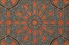 Example of Moorish design, from The Grammar of Ornament by Owen Jones, 1865.
