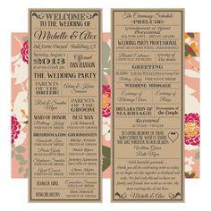 Printable Digital Wedding Program Vintage by LadybugPixels