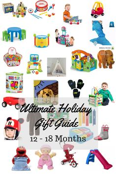 Ultimate Holiday Gift Guide for 12 - 18 month olds! Need an idea for a toddler in your life? Check out this gift guide! Baby Girl Christmas, Old Christmas, Christmas Presents, Christmas 2017, 18 Month Old Gifts, Toddler Gifts, Baby Gifts, Holiday Gift Guide, Holiday Gifts