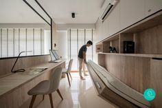 Home Office Interior Design Ideas Small Apartments, Small Spaces, Home Office Design, House Design, Office Decor, Modern Home Offices, Small Apartment Interior, Room Interior, Study Room Design