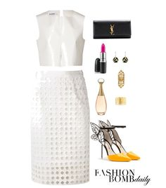 2 Summer 2014 Style Inspiration 5 Outfits for End of Summer White Parties and Labor Day Weekend alexander wang dress tom ford booties h&M lace top joseph pants aquazzura shoes sophie hulme crossbody jil sander crop top sea new york pencil skirt sain
