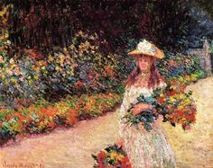 Young Girl in the Garden at Giverny 1888 Claude Monet