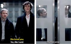 Perfect! - Sherlock's back to normal! And very attractive in this scene.