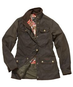Womens Barbour Morris Utility Waxed Jacket - Green