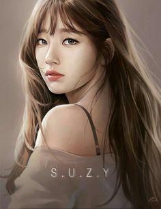Beautiful Suzy fanart by Sh_park