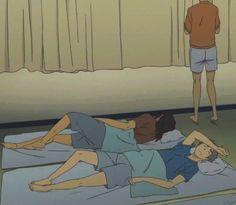 WAKE UP #Nishinoya #Asahi #Sugawara ^^ Come on, guys, you're not vampires! Suga is suspiciously dazzling, though...