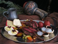 It's good to be the King… Robert Baratheon's Ideal Meal.  Medieval Feast Inspiration.