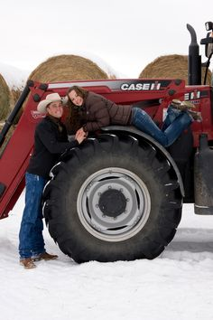 Tractor engagement photo