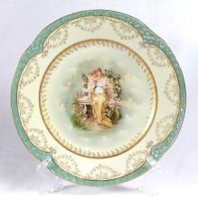 Lot Title: BAVARIA PORCELAIN PORTRAIT PLATE