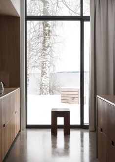 Large Window #kitchen AMM blog: A minimal hillside house in Norway, made from 6 cubes