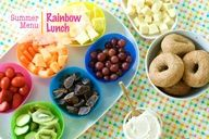 Love this rainbow lunch idea for an easy meal for the kiddos!