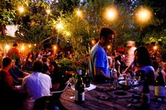 Bacchanal Courtyard...great spot for wine with cheese boards