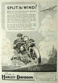 Vintage Harley Davidson Ad - 1931