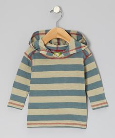 Take a look at this Teal Stripe Organic Hoodie - Infant, Toddler & Kids by Nui Organics on #zulily today!