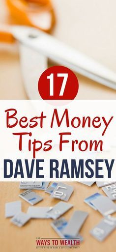 money tips from Dave ramsey Frugal living tips