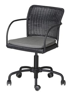GREGOR swivel chair #IKEA #PinToWin this would be perfect for our comp desk chair - hack it silver?