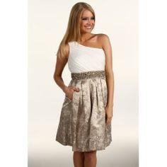 Eliza J One Shoulder Chiffon Jacquard Skirt Beaded Waist Dress http://apparelcombined.com/eliza-j-one-shoulder-chiffon-jacquard-skirt-beaded-waist-dress/