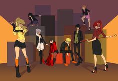Meet the Syndicate.or the new Persona cast, one of the two-- This is Team RWBY & JNPR from the show RWBY. Rwby Anime, Rwby Fanart, Me Anime, Rwby Velvet, Team Jnpr, Team Rwby, Rwby Comic, Fairytail, Rwby Ren