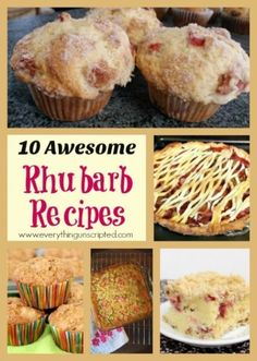 It's Rhubarb Season, Try Making These! 10 Rhubarb Recipes - Everything Unscripted Rhubarb Cobbler, Rhubarb Recipes, Those Recipe, Sweet Treats, Muffin, Baking, Breakfast, Desserts, How To Make