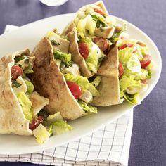 Chicken Caesar Pitas #chickenrecipes